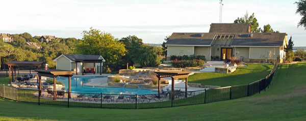 Cascade Pool and Lone Star Room, White Bluff Resort