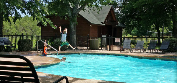Rustic Pool & Pavilion, White Bluff Resort